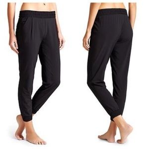 ATHLETA Aliso Black Jogger City Pants Size 8